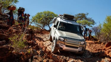 Land Rover Defender SUV hill descent