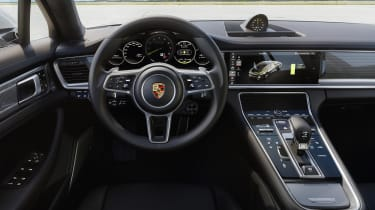As with all Panameras, the Turbo S E-Hybrid's interior strikes a good balance between luxury and sporty attitude
