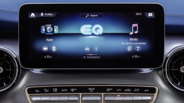 Mercedes EQV - sat nav screen