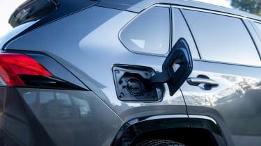 Toyota RAV4 PHEV charging flap