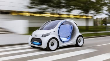 Rather than having owners, the Vision EQ ForTwo will be called upon via smartphone app