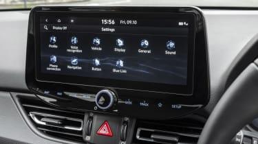 2021 Hyundai i30 sat nav screen