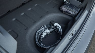 Citroen e-C4 hatchback charging cable storage