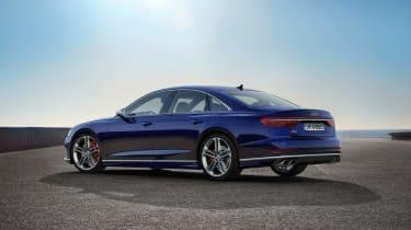 2019 Audi S8 static 3/4 rear