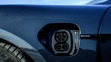 Porsche Taycan saloon charging port