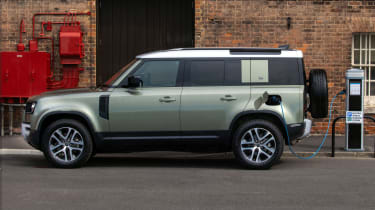 2020 Land Rover Defender 110 P400e plug-in hybrid - side view static