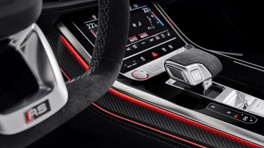 Audi RS Q8 steering wheel and centre console detail