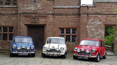 Three patriotically painted Minis – as featured in The Italian Job – won our Best Film Cars poll.