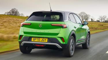 Vauxhall Mokka-e driving - rear