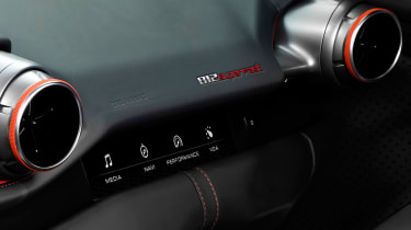 There are additional controls in front of the passenger