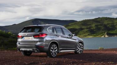 2019 BMW X1 SUV - rear view static