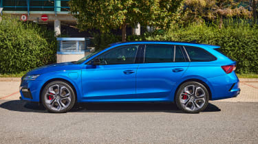 2020 Skoda Octavia vRS iV Estate side view