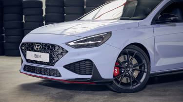 Facelifted Hyundai i30 N - front end