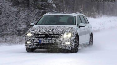 2019 Volkswagen Passat Estate spy shot front