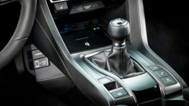 The new Honda Civic will be available with a six-speed manual gearbox