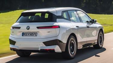 BMW iX SUV rear 3/4 tracking