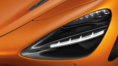 McLaren's new twin-turbocharged 4.0-litre V8 engine will be illuminated by engine bay lights when the car is unlocked