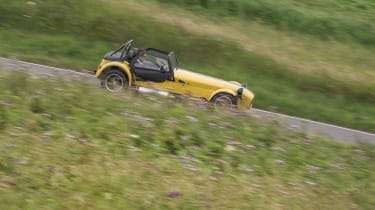 The Caterham Seven can trace its lineage back to the Lotus Seven of the 'sixties