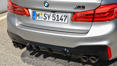 BMW M5 Competition - rear close-up