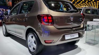 Newly designed 'four square' rear lights are a Dacia signature