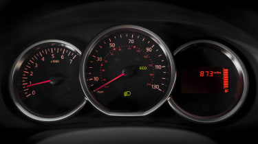 Dacia Sandero hatchback instrument cluster