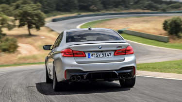 BMW M5 Competition - rear view dynamic