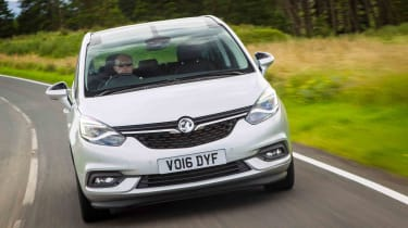 The new front end brings the Zafira into line with the rest of the contemporary Vauxhall range