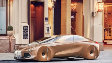 The looks of the Vision Next 100 will be toned down for a production car