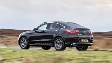Mercedes GLC Coupe SUV side panning