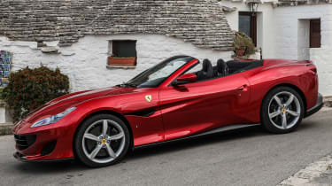 The interior boasts a 10.25-inch infotainment display and digital instruments that flank a yellow rev gauge