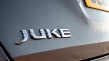 Nissan Juke SUV boot badge