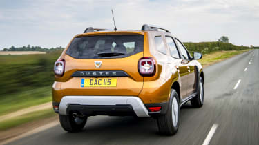 2018 Dacia Duster driving rear
