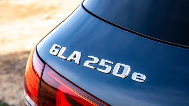 Mercedes GLA 250 e SUV rear badge
