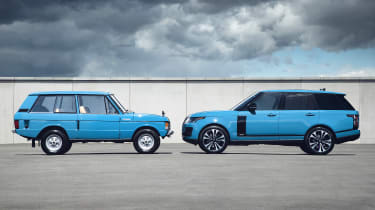 Range Rover Fifty and original Range Rover - side-by-side comparison