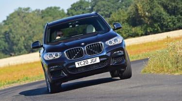 BMW X3 SUV front cornering