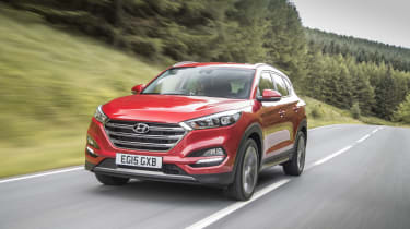 The Hyundai Tucson is impressively economical, returning up to 61.7mpg when the 1.7-litre diesel engine is fitted