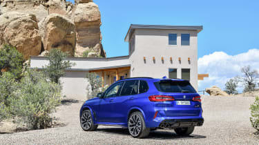 BMW X5 M Competition static - rear view