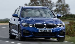 BMW 3 Series Touring driving - front view