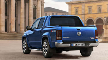 The Amarok can carry 1,154kg and its load bay is wide enough to take a forklift pallet