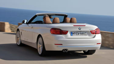 BMW 4 Series convertible rear action