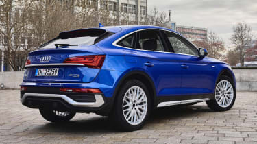 Audi Q5 Sportback SUV rear 3/4 tracking