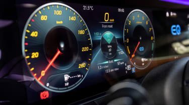 Mercedes E-Class E 300 e hybrid - digital instrument cluster