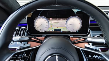 Mercedes S-Class saloon instrument display