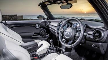The MINI Convertible might be small, but its interior is beautifully finished with plush materials