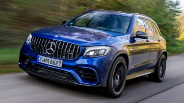 The Mercedes-AMG GLC 63 is a rapid SUV with a twin-turbocharged V8 engine