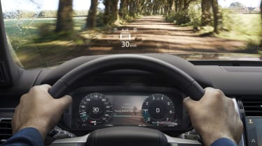 Land Rover InControl head-up display