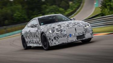 2020 BMW M4 prototype driving