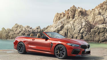 BMW M8 Competition convertible - front view 3/4 static