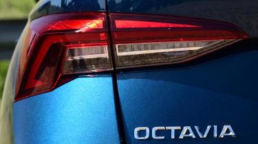 2020 Skoda Octavia Estate - rear taillight and badging