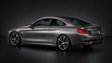 BMW 4 Series Coupe 2013 rear quarter